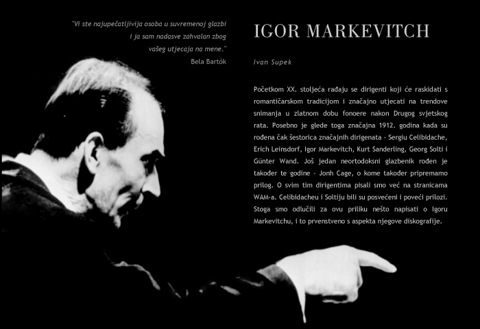 I. Supek: I. Markevitch