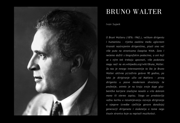 I. Supek: Bruno Walter